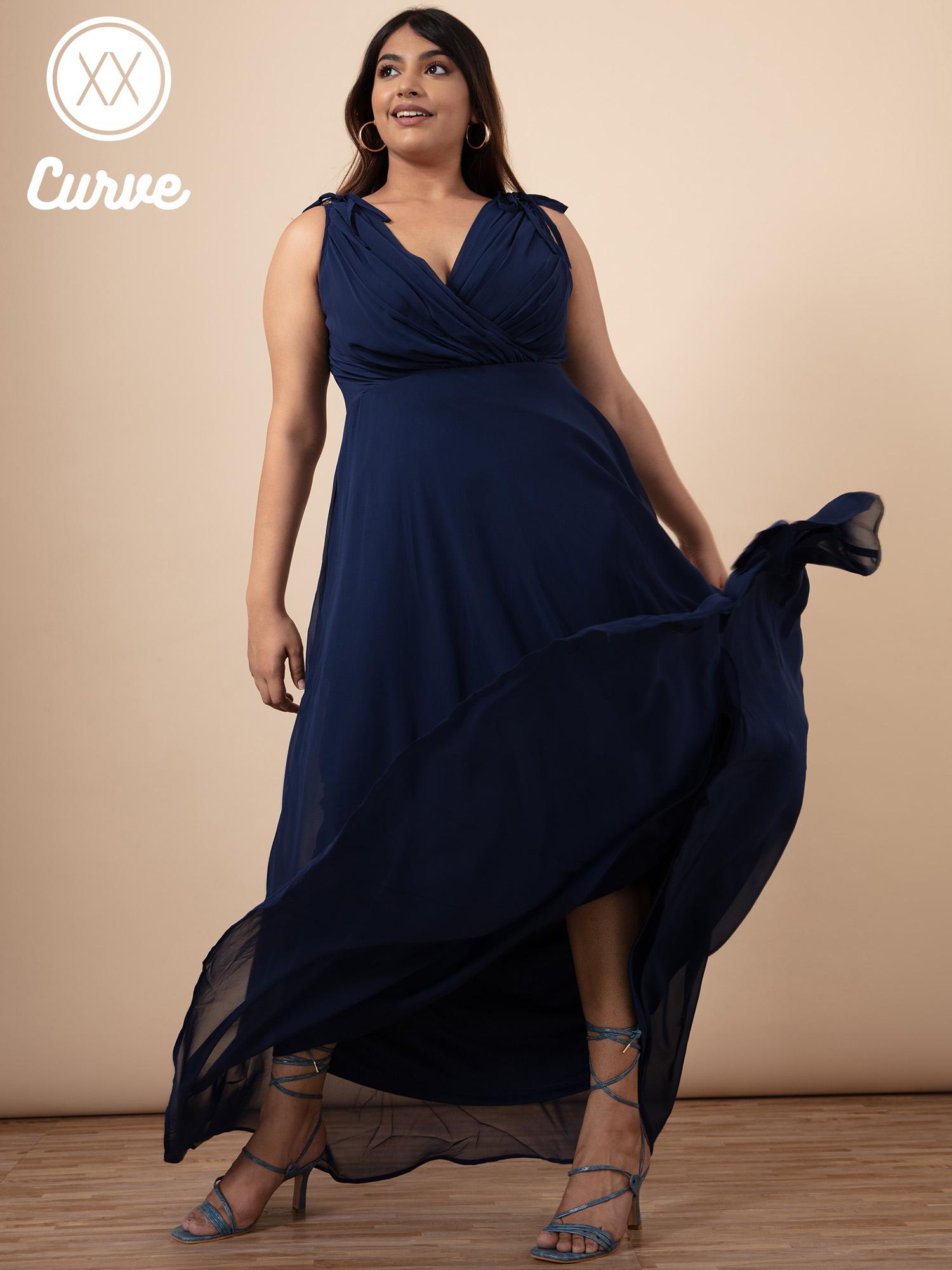 Dresses-Navy Blue You Look So Magnificent Maxi Dress1