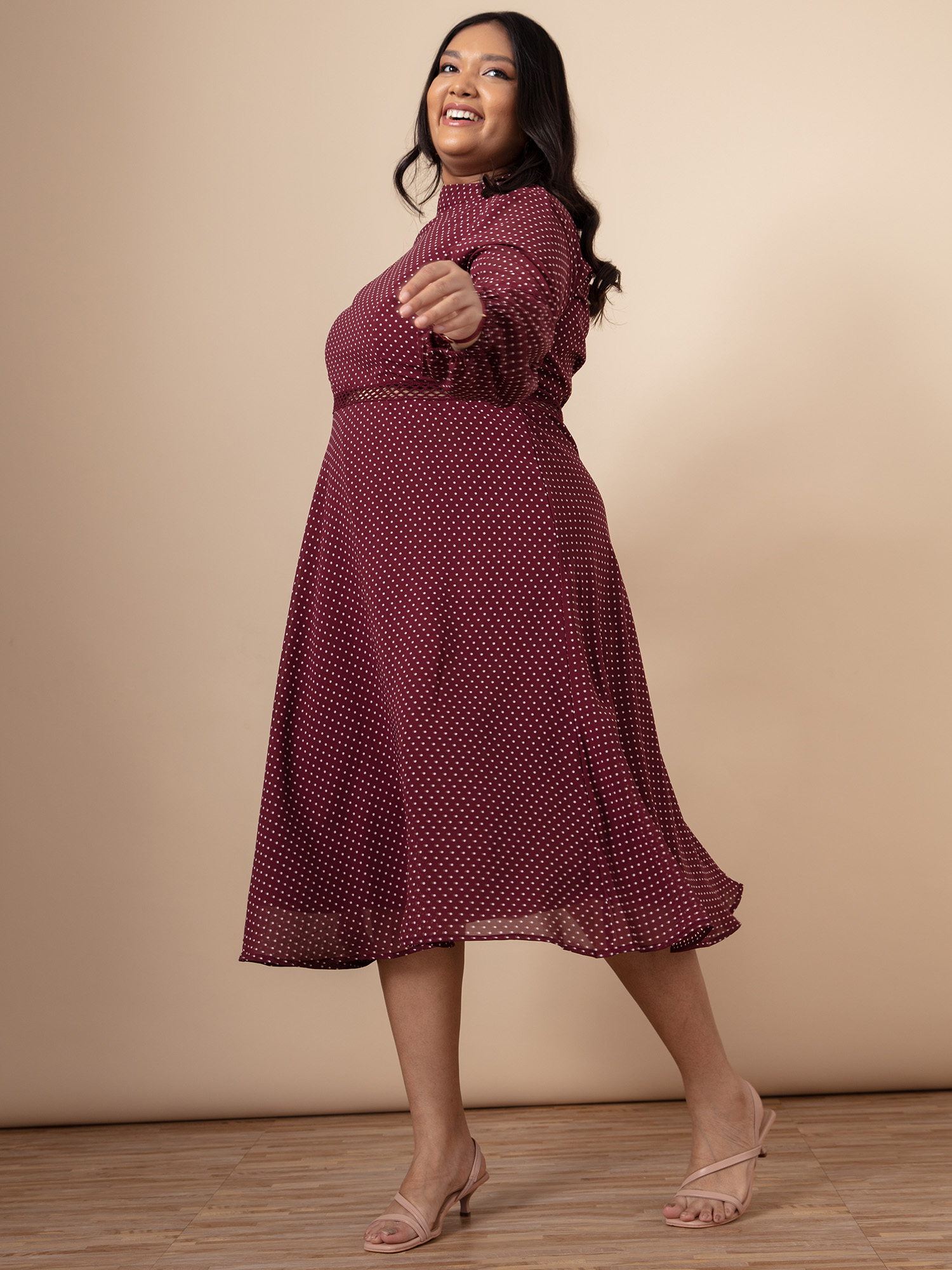 Dresses-Make A Point Polka Dress4