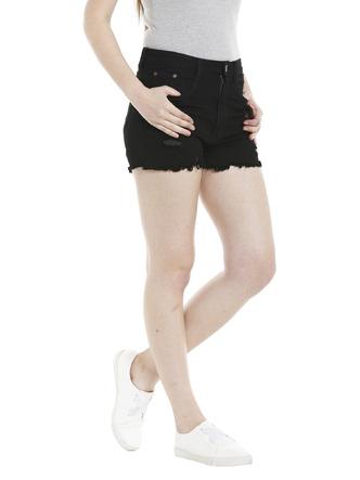 Shorts and Skirts-Darkened In Distress Shorts2