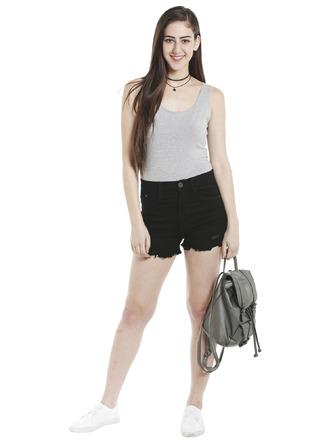 Shorts and Skirts-Darkened In Distress Shorts3