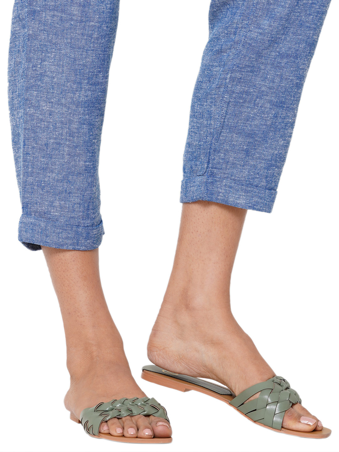 Bellies and Flats-Green Twists In Style Flats1