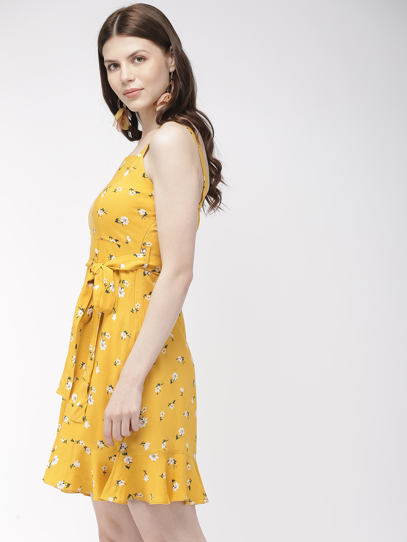 Dresses-Floral Vibrance Yellow Dress2