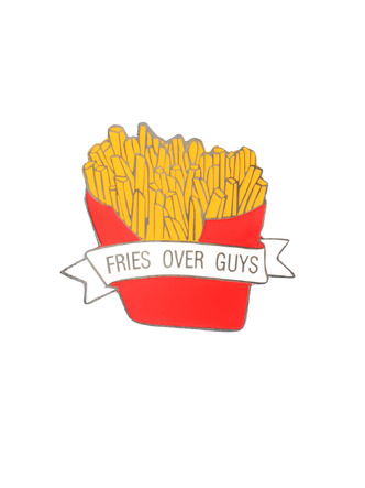 Brooches and Collar Pins-French Fries Are Life Brooch1