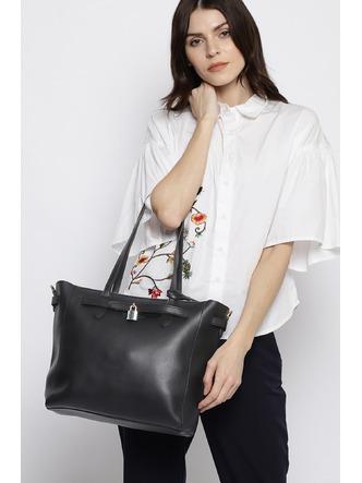 Hand Bags-Going To Work Black Handbag5