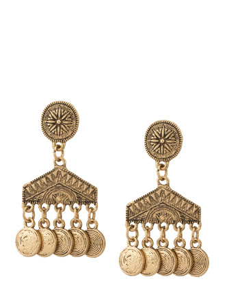 Earrings-Gold Make Some Noise Earrings 1