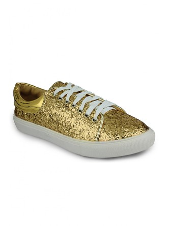 Sneakers and Loafers-Gold Rush Sequins Sneakers1