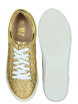 Sneakers and Loafers-Gold Rush Sequins Sneakers2