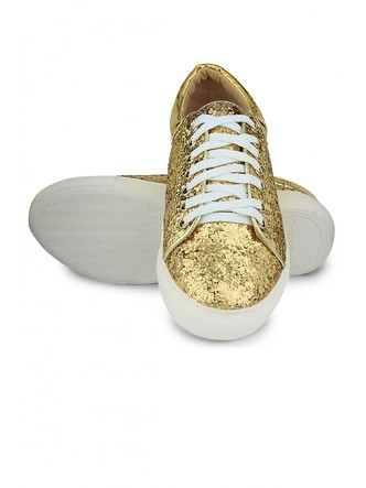 Sneakers and Loafers-Gold Rush Sequins Sneakers3