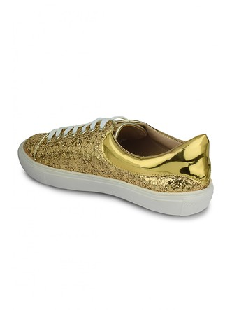 Sneakers and Loafers-Gold Rush Sequins Sneakers4
