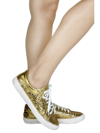 Sneakers and Loafers-Gold Rush Sequins Sneakers5