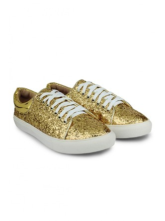 Sneakers and Loafers-Gold Rush Sequins Sneakers7