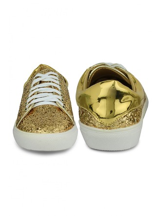 Sneakers and Loafers-Gold Rush Sequins Sneakers8