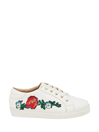 Sneakers and Loafers-Growing On Me Floral Sneakers1