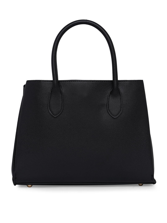 Hand Bags-Black Buckle You Down Handbag4