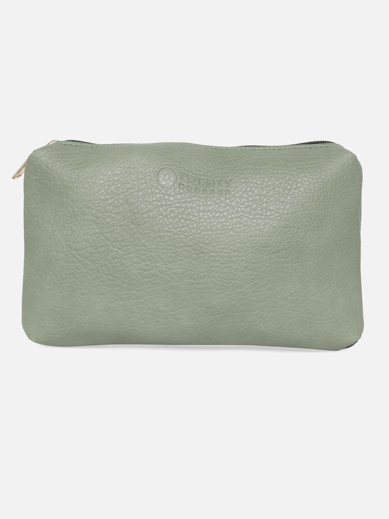 Hand Bags-Green On The Fringe Line Bag8