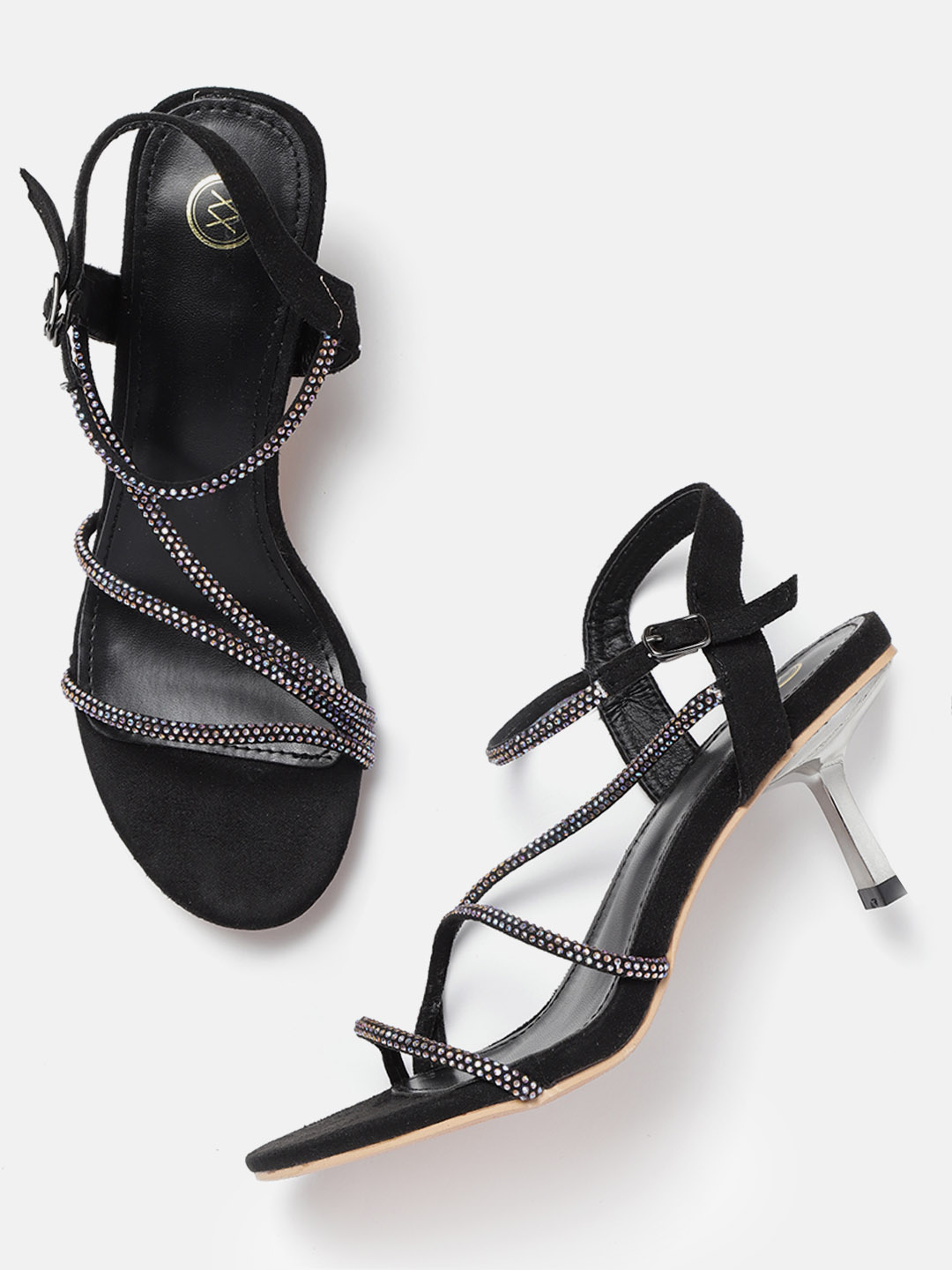 Heels and Wedges-I Fancy You Studded Black Heels1