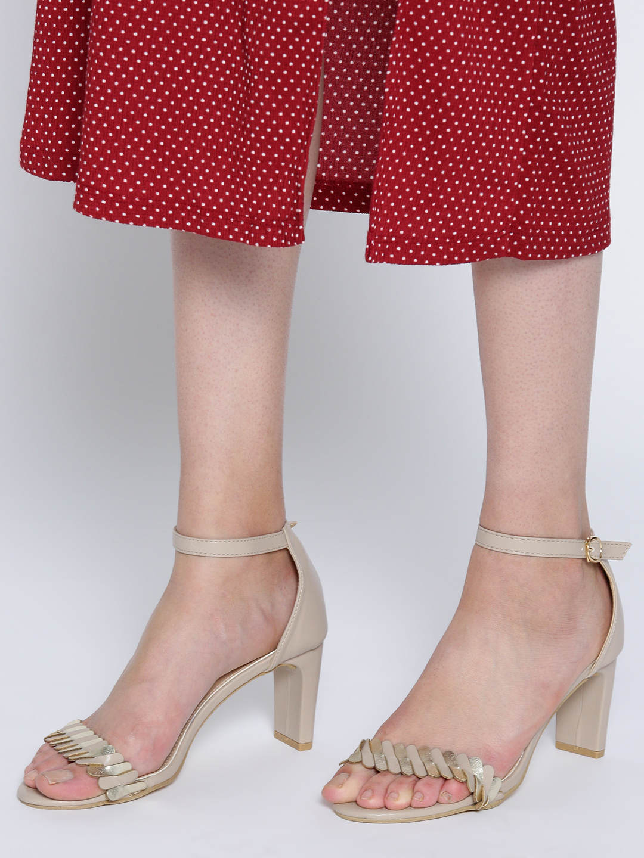Heels and Wedges-A Golden Twist Block heels1