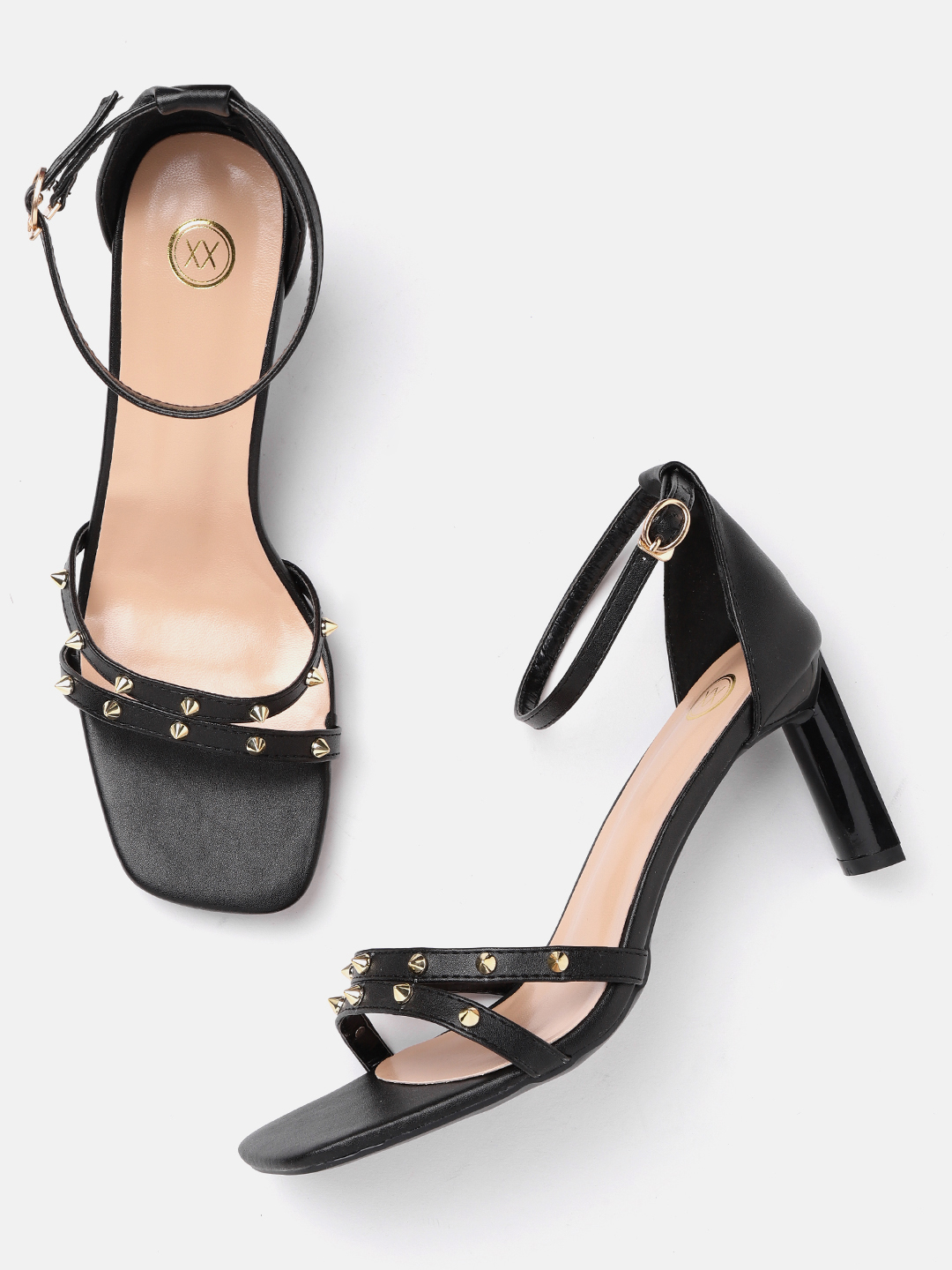 Heels and Wedges-Black Stud Me Senseless Heels2