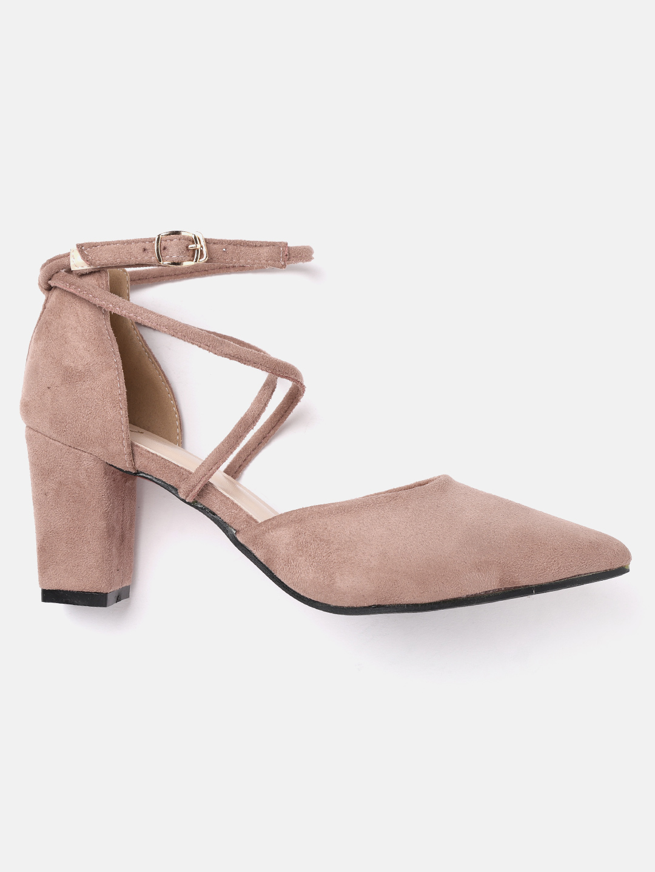 Heels and Wedges-Pink Keep Them Crossed Heels3