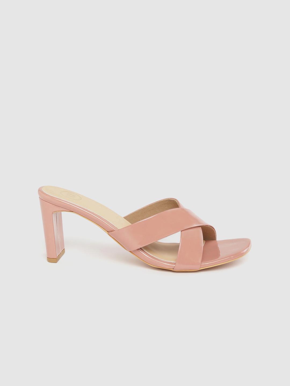 Heels and Wedges-Walk My Way Blush Pink Mule Heels1