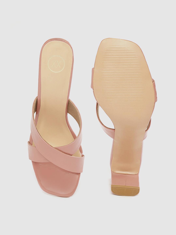 Heels and Wedges-Walk My Way Blush Pink Mule Heels2