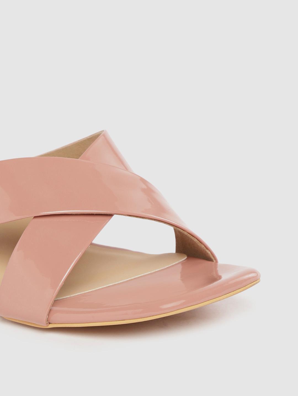 Heels and Wedges-Walk My Way Blush Pink Mule Heels4