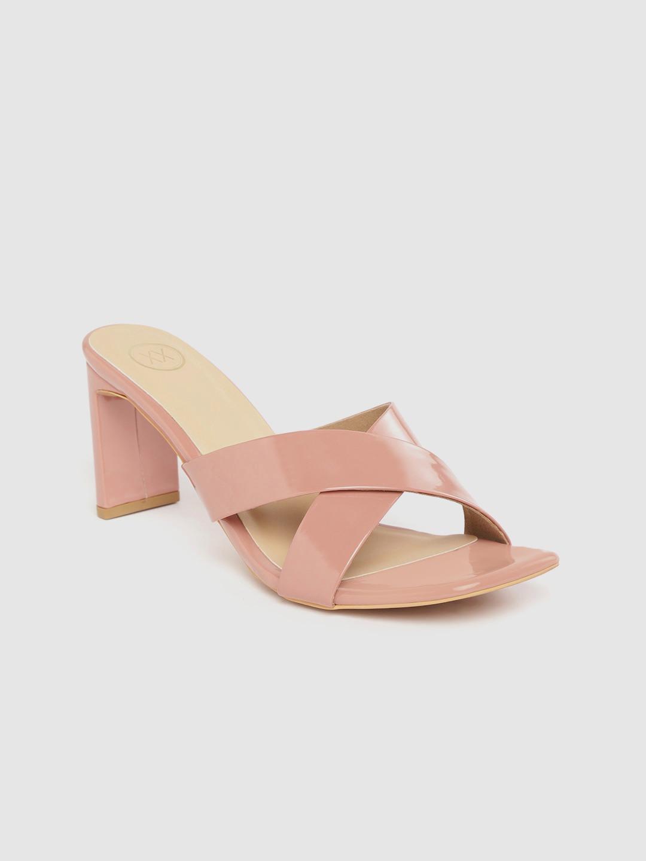 Heels and Wedges-Walk My Way Blush Pink Mule Heels5