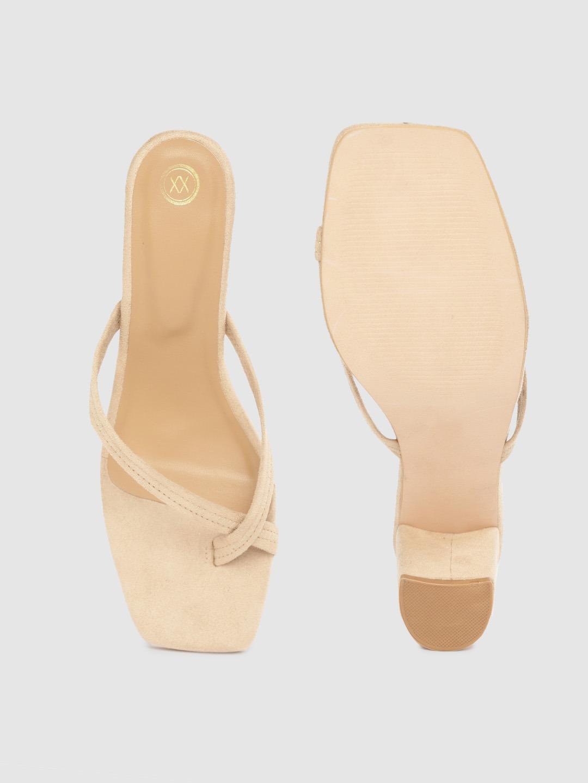 Heels and Wedges-Follow The Steps Beige Heels2