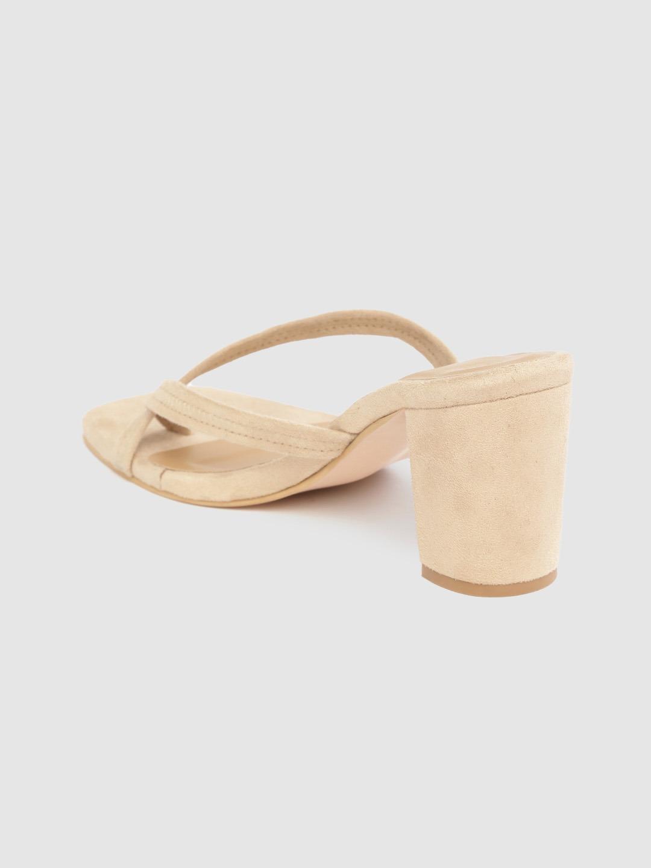Heels and Wedges-Follow The Steps Beige Heels3