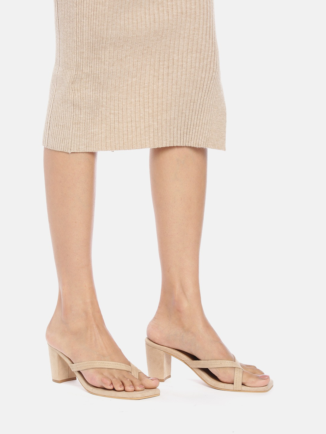 Heels and Wedges-Follow The Steps Beige Heels8