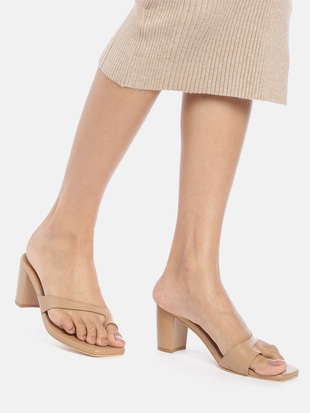 Heels and Wedges-Be Simply Superb Beige Heels 8