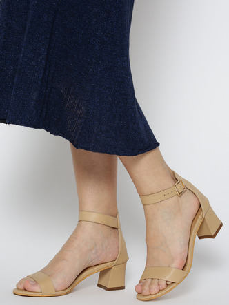Heels and Wedges-High On You Flared Heels1