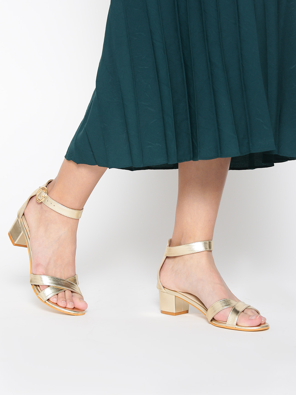 Heels and Wedges-Keep The Shine On Block Heels1