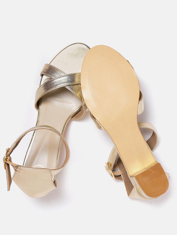 Heels and Wedges-Keep The Shine On Block Heels4