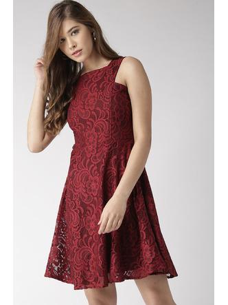 Dresses-Maroon Let Me Lace You Dress1