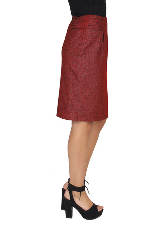 Shorts and Skirts-Maroon The Boardroom Classic Skirt5