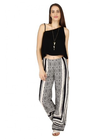 Pants and Palazzos-Monochrome In Kaleidoscope Pants3