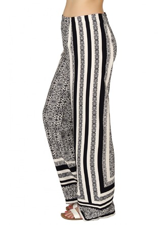 Pants and Palazzos-Monochrome In Kaleidoscope Pants4