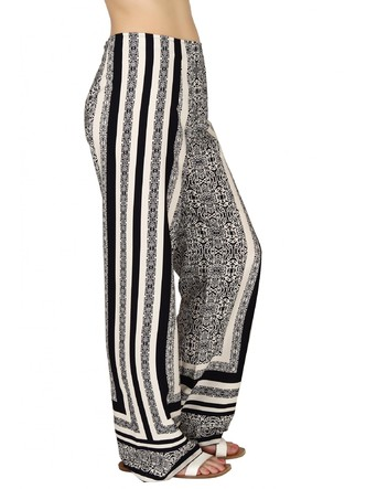 Pants and Palazzos-Monochrome In Kaleidoscope Pants5