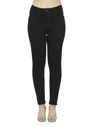 Denims Jeggings and Leggings-My Classic Black High Waist Denim1