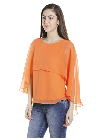 Tops-Orange Fly Away Cape Top5