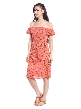 Dresses-Orange The Power Of The Flower Dress5