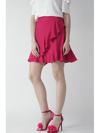 Shorts and Skirts-Pink Twirl In Ruffles Skirt4