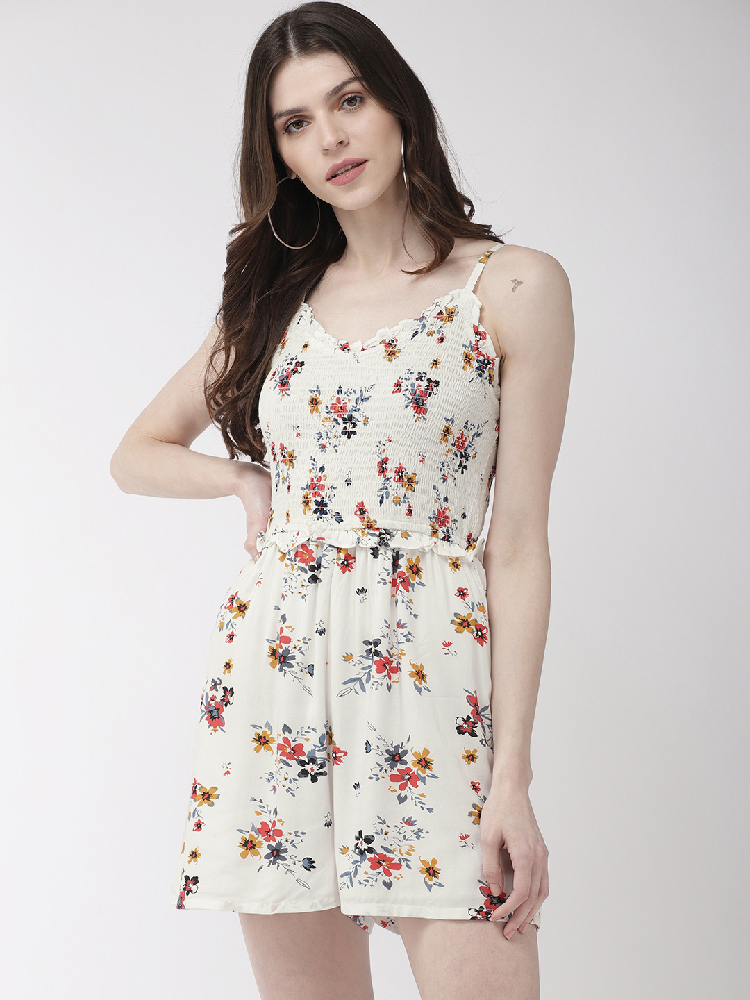 Jumpsuits-Pretty Enchanting In The Florals Playsuit1