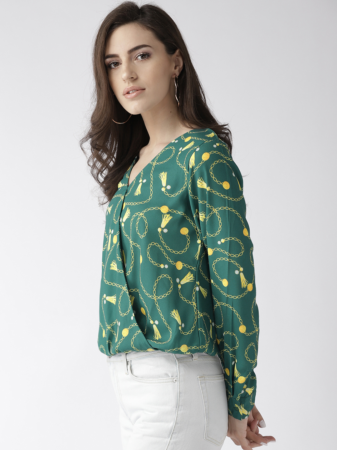 Tops-Prints On My Mind Wrap Top2