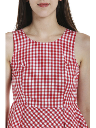 Tops-Red Check Me Out Peplum Top2