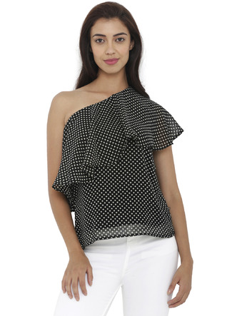 Tops-Right On Spot Polka Top1