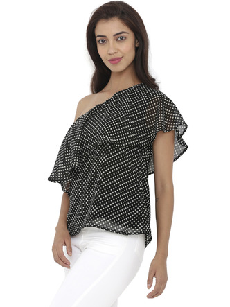 Tops-Right On Spot Polka Top2