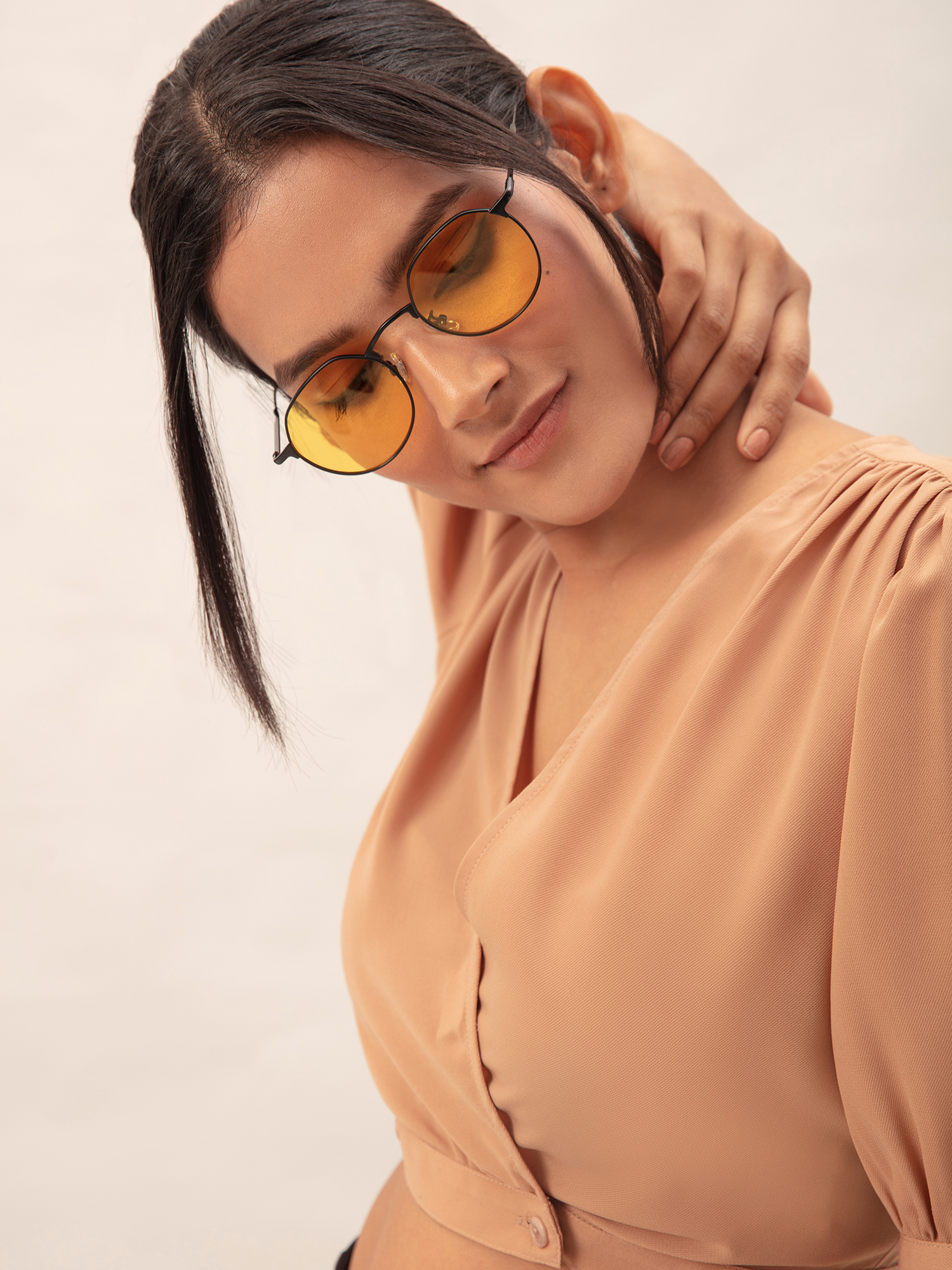 Sunglasses-Yellow Something In Summer Air Sunglasses1