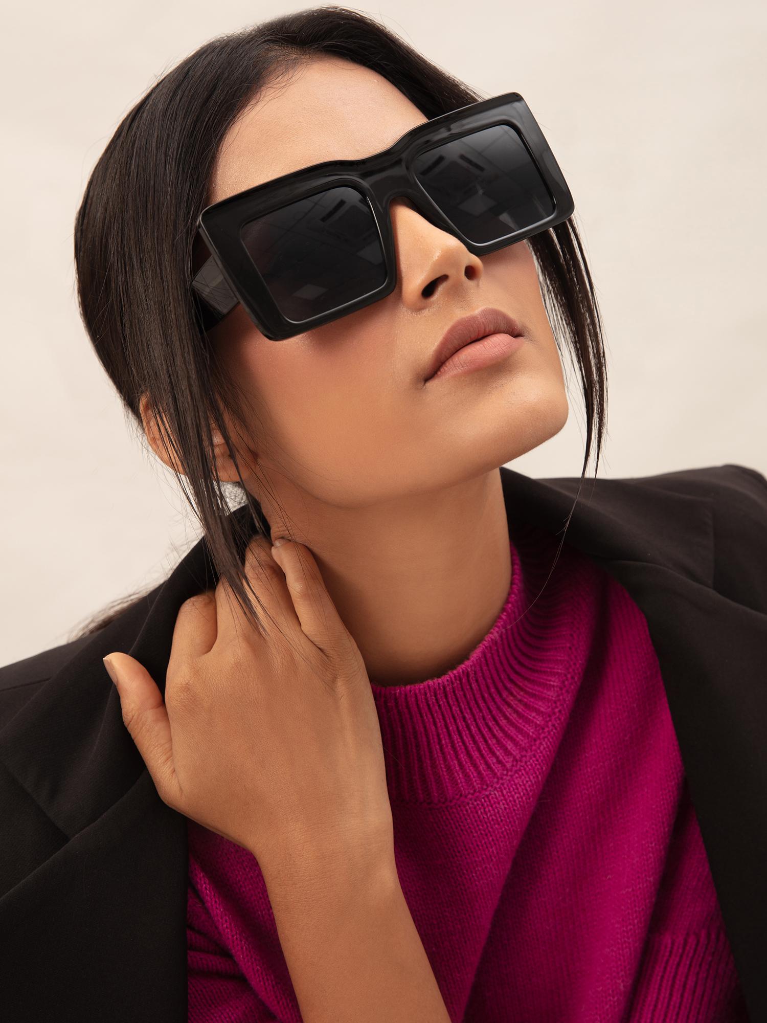 Sunglasses-Black Back To Square One Sunglasses1